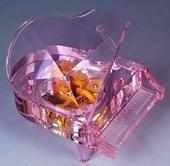 供应水晶钢琴定制音乐盒八音盒生日礼物diy创意礼品结婚礼物送批发