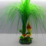 假山电子鹦鹉+小鸟加草电动声控鸟图片