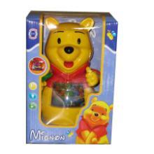 澄海玩具批发玩具供应电动万向维尼熊灯光维尼熊音乐维尼熊电动车批发