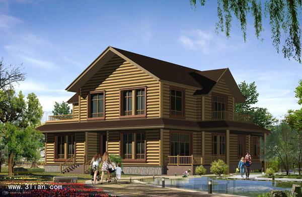 供应木屋效果图设计,小木屋效果图制作,木别墅外观效果图设计制作图片