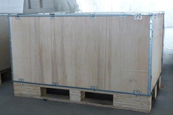 供应上海插片式钢带木箱包装木箱包装钢带木箱卡扣木箱木包装箱