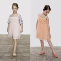 外贸直批蕾丝长袖裙蕾丝童裙