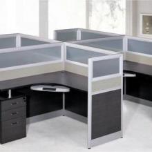 供应屏风办公桌价格,四人位L型屏风办公桌尺寸,广州办公家具厂图片