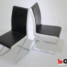 供应顾家欧式宜家风格高靠背餐椅黑白色皮革软包现代时尚简约椅子批发