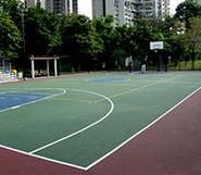 塑胶篮球场图片