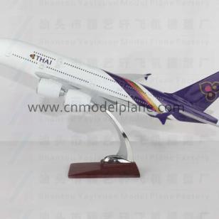 A380泰航47cm树脂飞机模型图片