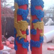 上海泡沫雕塑-龙形纹柱雕塑图片