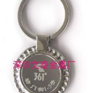 不锈钢贴片匙扣/锌合金钥匙扣图片