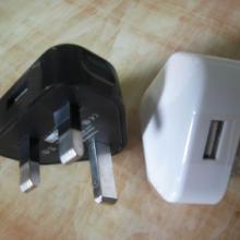 亚天CE认证英规充电器USB火牛 足5V1A电源适配器厂家 旅充图片