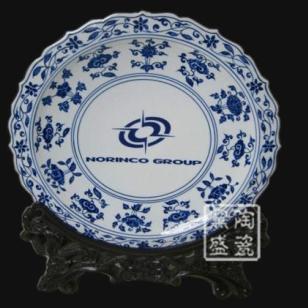 青花瓷摆设瓷盘丨家居艺术瓷盘图片