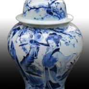 景德镇将军罐丨定做陶瓷罐子丨青花图片