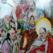 景德镇瓷板画丨手绘瓷板画丨陶瓷片图片