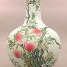 供应景德镇粉彩瓷丨九条天球瓶丨花瓶摆设丨定做景德镇工艺品