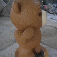 玻璃钢BB熊卡通雕塑