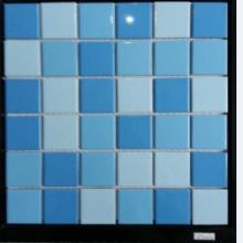 泳池装修-蓝色陶瓷马赛克 陶瓷马赛克拼花批发