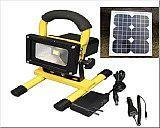 10W太阳能手提式投光灯正白光图片