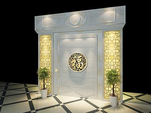 中式背景墙,玉石雕花,首选腾云图片