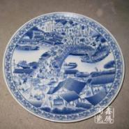 景德镇厂家手工绘制青花陶瓷瓷盘图片