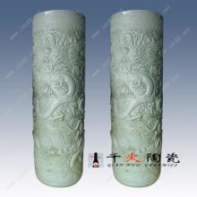 供应陶瓷装饰剑筒 书房办公摆件陶瓷剑筒 手工剑筒