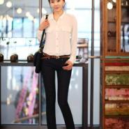 韩版春装大码雪纺衬衫图片