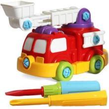供应可拆装消防车动手动脑能力益智玩具批发