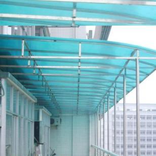 厂房阳光板不锈钢雨棚图片