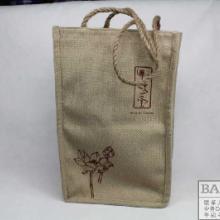 供应高档棉麻混纺礼品手提袋定做郑州布袋定做厂家