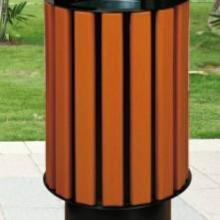 供应M户外垃圾桶 圆形垃圾桶 仿木户外垃圾桶
