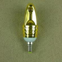 供应4W火箭头蜡烛灯外壳套件E14灯头精工铝材质220V批发