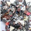 PVC花色黑色杂色废塑料破碎料再生图片