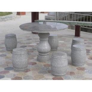 草白玉石凳石桌价格行情图片