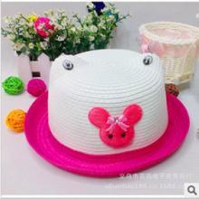 cm03可爱米奇儿童草帽卡通盆帽遮阳帽儿童帽子批发批发