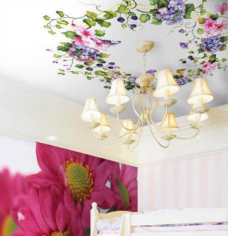 手绘墙图片简述:墙画并不局限于家中的某个位置客厅卧室餐厅