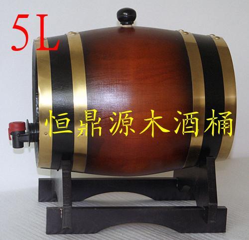 供应木制酒桶装饰酒桶散装松木酒桶5L图片
