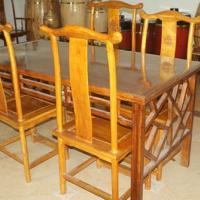 供应香椿木实木家具餐桌五件套