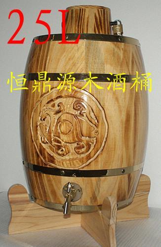 供应新疆木桶酒松木酒桶装饰木酒桶批发图片