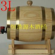 橡木桶橡木酒桶红酒桶葡萄酒桶3L图片
