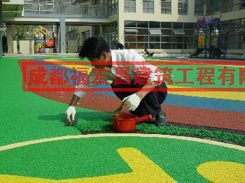 供应塑胶地坪幼儿园印花图案找福宏昌