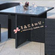创意合并藤椅子茶几五件套户外家居图片