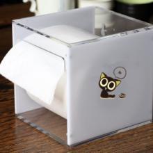 供应家居面巾盒卫浴用品方形卷纸盒/亚克力制品有机玻璃制作创意抽纸盒图片
