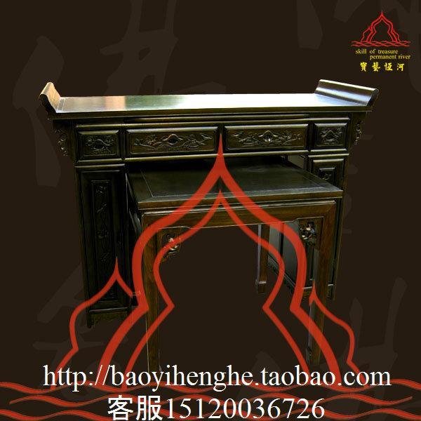 供应带屋顶立柜佛龛供桌 供应宫殿式佛龛供桌立柜 供应68供桌 佛龛图片