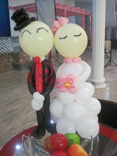 供应气球新娘新郎 魔术气球编织