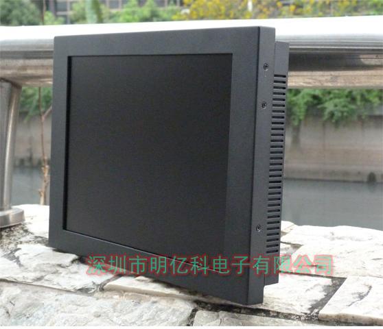 供应12寸触摸液晶显示器金属外壳防震显示器