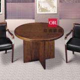 供应BQR1004简约圆桌 黑橡木桌 西餐桌 小圆桌 咖啡桌洽谈桌