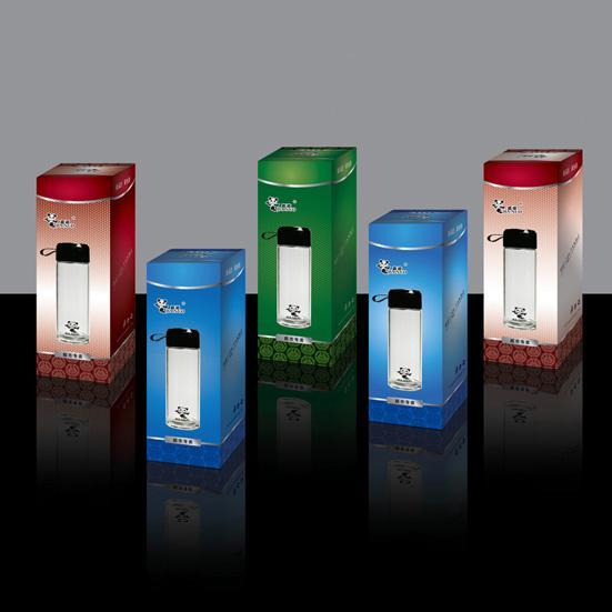 供应水晶玻璃杯彩盒包装