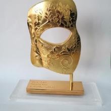供应面具工艺品摆件,假面具模型,金属面具,锌合金面具,金面具礼品摆件