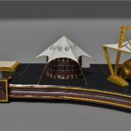 金属办公摆件模型图片