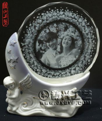供应水晶丘比特陶瓷奖杯太阳花奖牌