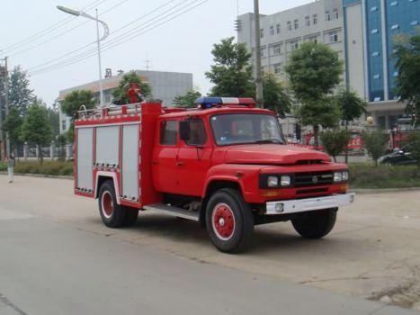 斯太尔后双桥水罐消防车