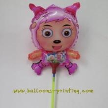 供应欢腾定做托杆气球卡通托杆气球动物托杆气球生日托杆气球定做批发